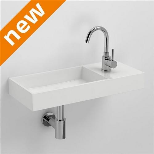 Mini Fontein Toilet.Fontein Clou Mini Wash Me Plus Cl0308235 Mineral Marmer Fontein