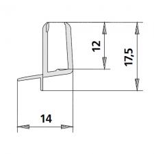 Kermi 2534043 gebogen spatwaterdichting 5mm