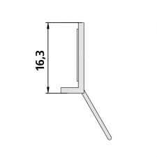 Kermi 2534805 set spatwaterdichtingen 2 x 100cm